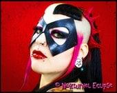 Ms. Marvel Super Hero Black Leather Mask Diamond-Shaped Fetish Masquerade Warbird Marvel Comics Sexy Halloween Costume