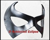 BLACK Robin Leather Mask Batman Superhero Ms Marvel Halloween DC Comic Con Cosplay Dawn of Justice UNISEX - Available Any Basic Color