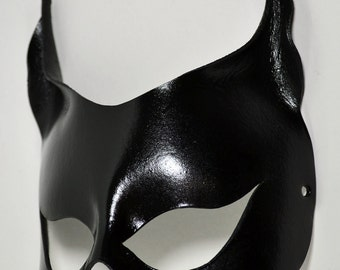Catwoman Leather Mask Halloween Harley Quinn Gotham City Batman SDCC DC Comics Geek Batgirl Cosplay Costume - Available Any Basic Color