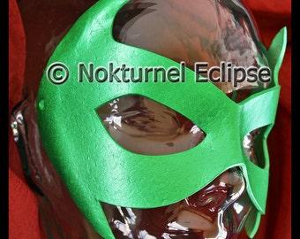 Green Robin AKA Damian Wayne Leather Mask Superhero Masquerade Batgirl Batman Ms Marvel Halloween DC Comic Con Cosplay Costume UNISEX