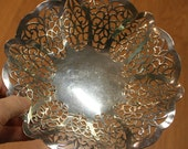 Pretty International Lovelace EPNS Silverplate Nappy Candy / Nut Dish
