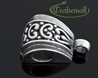 Clearance: 1 Sterling Silver Bail - Bali Ornament - SSBL08