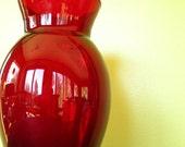 Vintage Ruby Red Vase