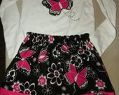 White and Black Butterfly Set