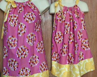 Sale ****Matching Mother Top SIze Medium  in Pink and Yellow