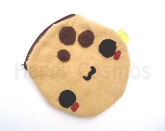 Cookie Zipper Pouch - Pencil Pouch, Pencil Case, School Supplies, Make Up Bag, 3DS Case, Phone Case, Coin Purse