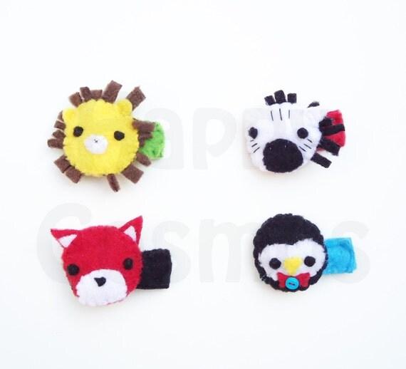 Cute Animal Hair Clip - Hair Accessories, Hairclip for Women, Hairclip for Girls, Hairclip Baby, Hair Clips, Lion, Fox, Zebra, Penguin