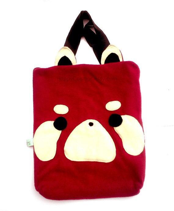 Red Panda Tote Bag - Schoolbag, Backpack, Bookbag, Animal Tote Bag, Reusable Bag, Women's Tote, Christmas Gift, His and Hers Gift