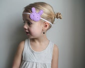 Pastel purple bunny headband - LIttle girls headband - handmade accessories for girls and toddlers - modern bunny - cute headband