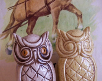 two ceramic owls