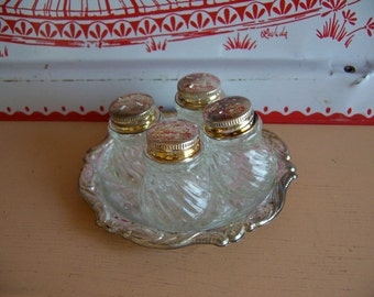 silverplated salt and pepper  set