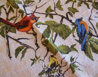 lots of birds linen kitchen towel