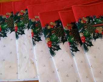 bright and beautiful holiday  linen napkins