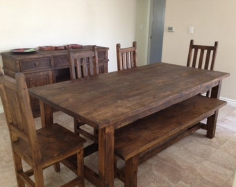Aged Wood Dining Table