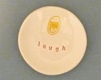 Laugh happy face dish