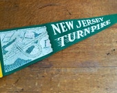 Large New Jersey Turnpike Souvenir Pennant - Kitschy Cool Road Trip Fun