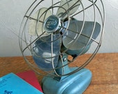 "Mid-Century Bersted Zero Model 1250R Electric Fan ""Cool Industrial Age Design Lines"""
