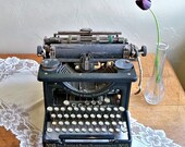 Distressed L.C. Smith No. 8 Typewriter - A Fun Piece for a Cottage Chic Decor or Steampunk Project