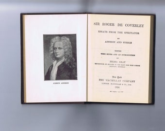 Sir Roger De Coverly Essays from the Spectator 1924 edition - Vintage Book