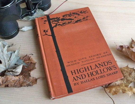 """Rare 1923 Edition of """"Highlands And Hollows"""" by Dallas Lore Sharp """"Great Gift for a Nature Lover"""" - Illustrated Vintage Book"""