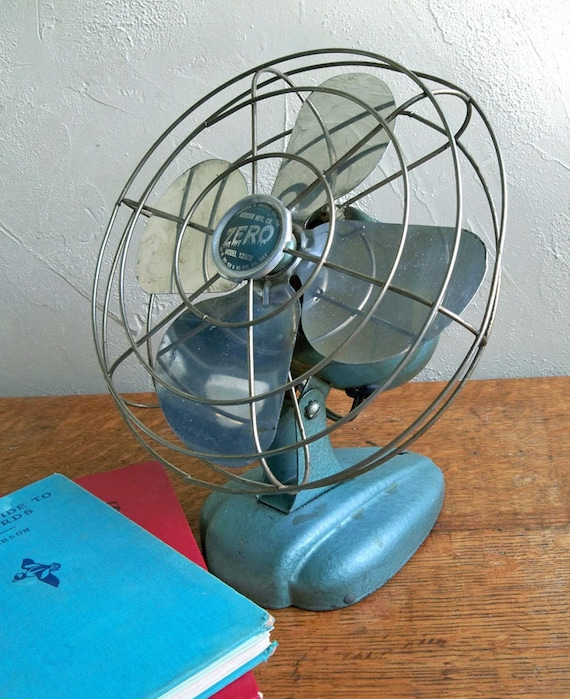 """Mid-Century Bersted Zero Model 1250R Electric Fan """"Cool Industrial Age Design Lines"""""""