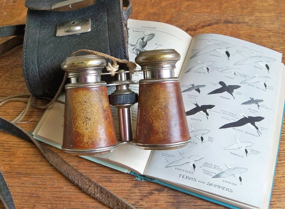 "Antique Le Jockey Club Paris Binoculars - Opera Glasses with Case ""Steampunk Splendor"""