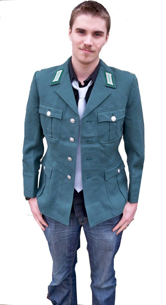 Vintage West German Military Police Uniform Jacket Men S