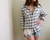 Plaid & Lace Tunic