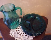 Vintage Pitcher and Lunch Plates
