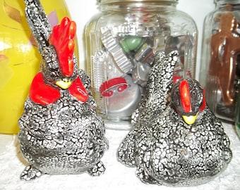 Vintage Chicken Figurines
