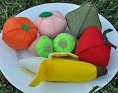 Fruit Felt Food 8 Piece Rainbow Set