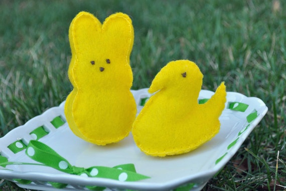 You Pick TWO Felt Food Chick or Bunny Marshmallow Candy Peeps