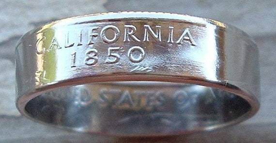 2005 California State Quarter Coin Ring in a size 9