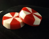 Peppermint candy shaped  Christmas soap