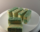Homemade cold processed soap scented Tulip