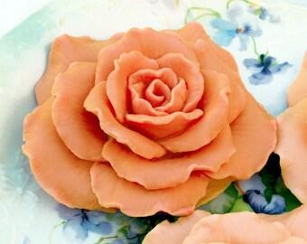Apricot Peach Soap Rose
