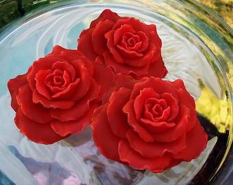 Rose Shaped Rose scented 3-Piece soap Set