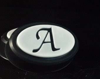 Set of 2 Monogrammed Soaps - Moonlight Path Type