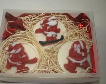 Christmas Soap 3 Santa's playing winter sports...