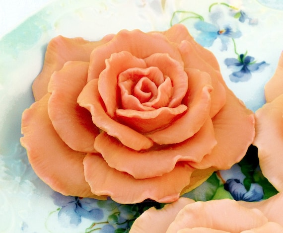 Apricot Peach Soap Rose