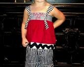 Houndstooth Fantastic Ruffle Pants Custom Listing for Nikki