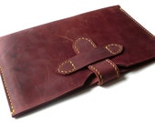 Hand-Stitched ipad leather sleeve (Burgundy) with FREE monogramming