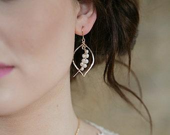 Pearl Tusk Earrings Petite