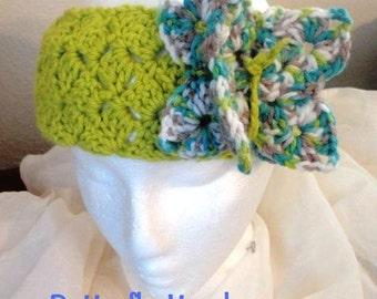 Butterfly Headband Ear Warmer Crochet Pattern Instant PDF Digital Download