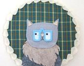 Curious Cat : Collaged Fiber Art