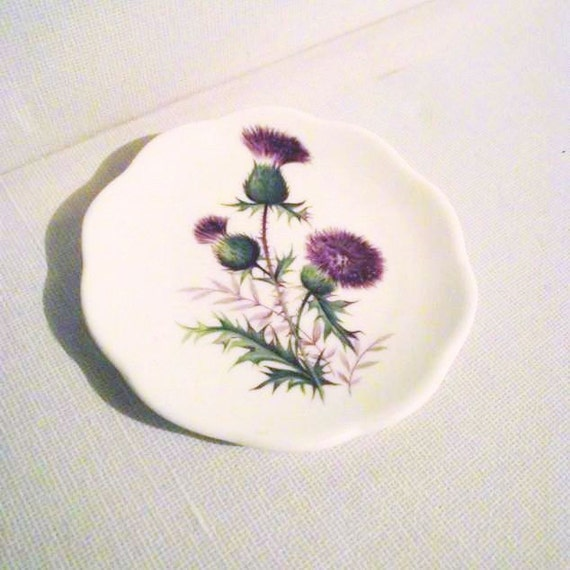 Vintage Scottish Thistle Pin Dish - Luckenbooth.