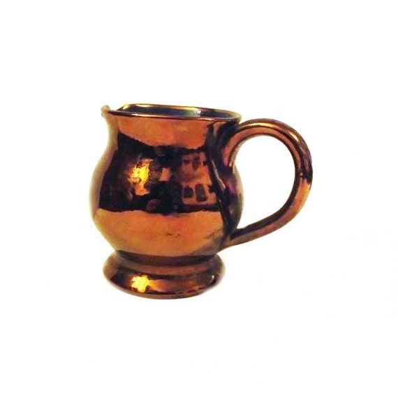 Welsh Pottery - Copper Lustre Creamer