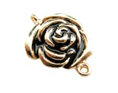 Clearance Sale - 5pc Gold Rose Connector for Earring Pendant Bracelet Jewelry Supplies CN-001G