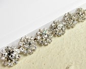 100 Small Crystal Rhinestone Silver-plated buttons RB-084 for Wedding Invitation Card Scrapbooking Hair Accessories (12mm or 0.5 inch)