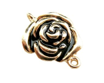 2pcs Gold Rose Connector for Earring Pendant Bracelet Jewelry Supplies CN-001G